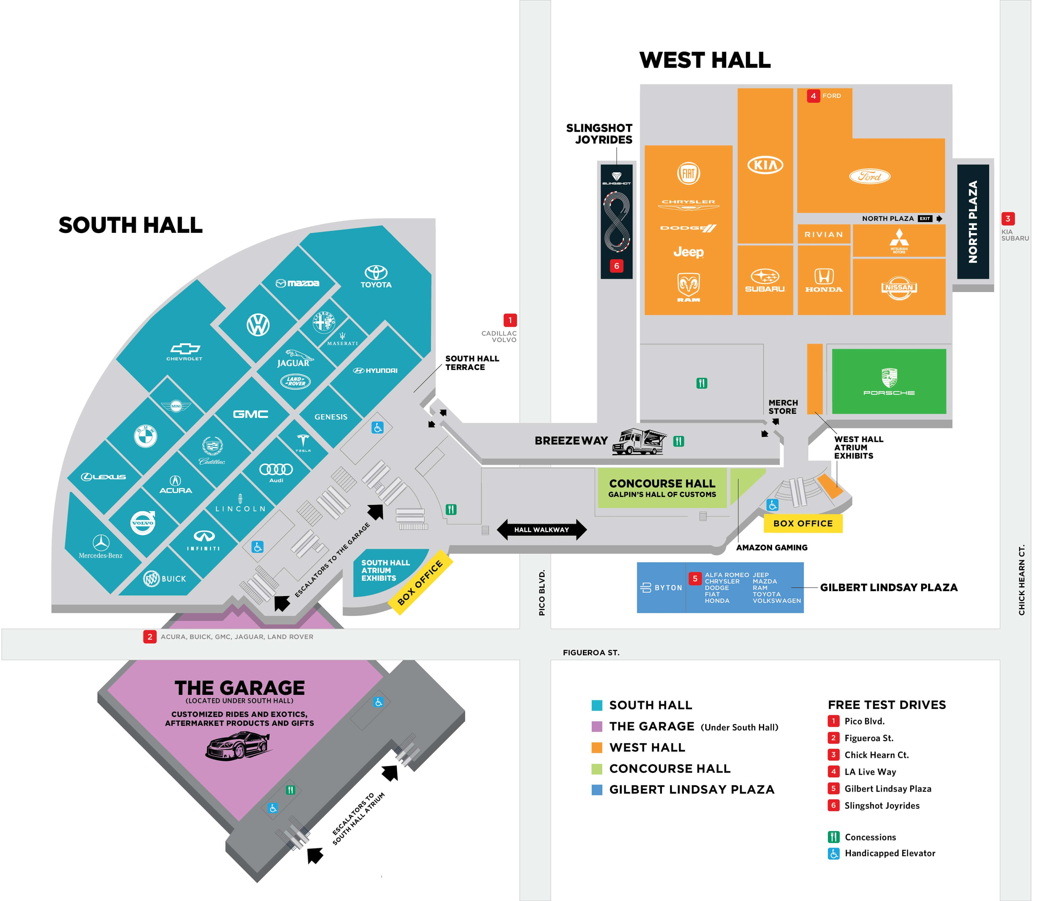 2018 Los Angeles Auto Show Floor Plan