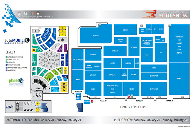 Detroit Auto Show Floor Plan