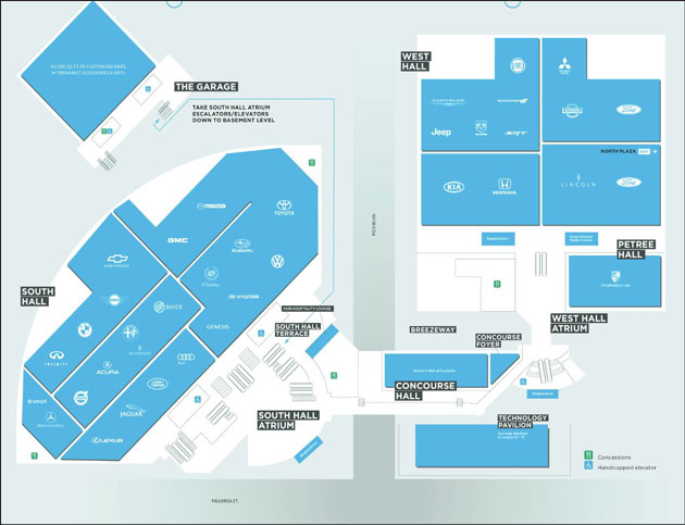 Los Angeles Auto Show Floor Plan